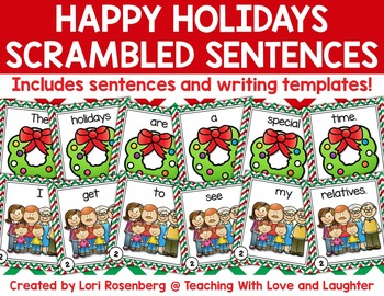 Happy Holidays Scrambled Sentences