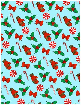 Happy Holidays (Scrapbook Paper and Digital Backgrounds)