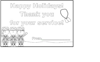 Happy Holidays! Thank you for your service!