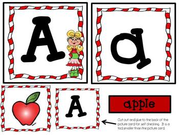 Happy Holidays Upper and Lower Case Alphabet Match and Printing Set