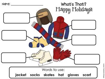 Winter Holidays Label the Picture (Christmas, Hanukkah, Kwanzaa)