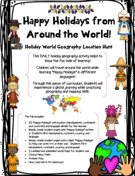 Happy Holidays from Around the World! Daily A to Z World Geography Location Hunt