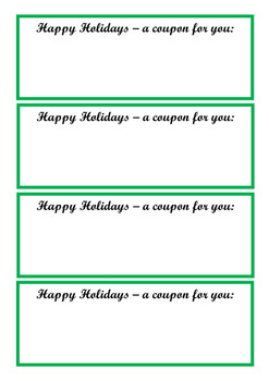 Happy Holidays gift coupon