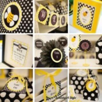 "Classroom Decor Happy Honeybee ""BEE the Change"" Inspirational Print"