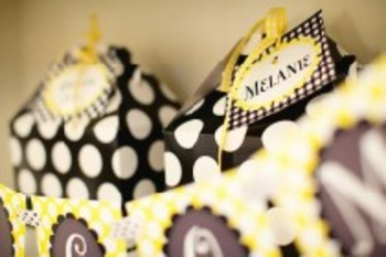 Classroom Decor Happy Honeybee Gingham Multipurpose Labels