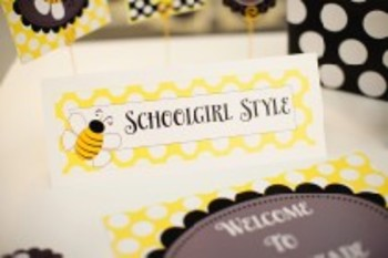 Classroom Decor Happy Honeybee Nameplates