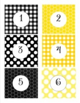 Classroom Decor Happy Honeybee Number Tags