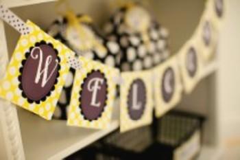 Classroom Decor Happy Honeybee Welcome Banner