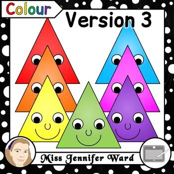 Happy Isosceles Triangle Clipart