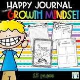 Happy Journal to promote a Growth Mindset and Mindfulness