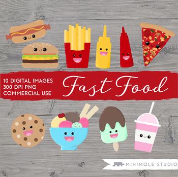 Happy Junk Food Clip Art, Fast Food Graphics