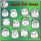 Happy Kid Heads Clip Art  CM