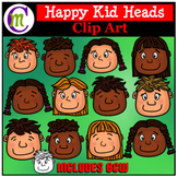 Happy Kid Heads Clip Art  CM