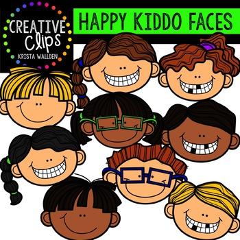 Happy Kiddo Faces {Creative Clips Digital Clipart}