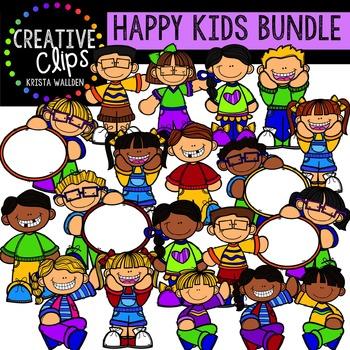 Happy Kiddos Bundle {Creative Clips Digital Clipart}