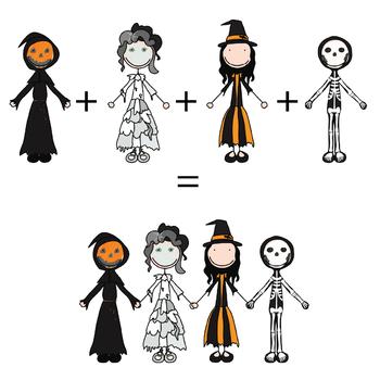 Happy Kids 5 - Halloween - Clip Art Set - PNG files