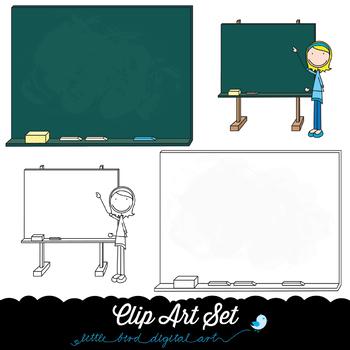 Happy Kids 6 - School Time - Clip Art Set - PNG files - Free