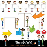 Happy Kids 7 - Banners and Signs - Clip Art Set - PNG files