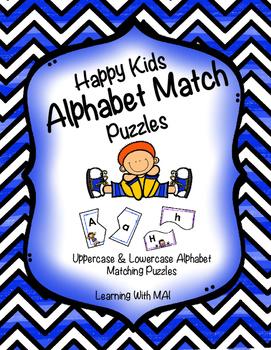 Happy Kids Alphabet Match Puzzles