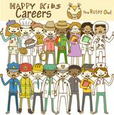 Happy Kids Career Clip art set