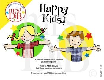 Clip Art- Happy Kids ORIGINAL ARTWORK
