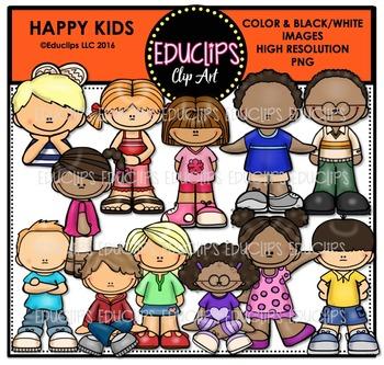 Happy Kids Clip Art Bundle {Educlips Clipart}