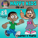 Kids - Happy Kids Clip Art - Charles and Maria