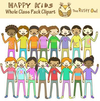 Happy Kids Whole Class Clip art