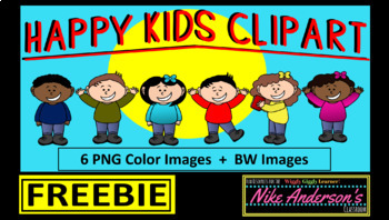 Happy Kids Clipart FREEBIE