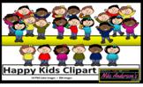 Happy Kids Clipart set