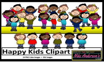 Happy Kids Clipart set