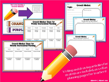 Happy Kids Growth Mindset Posters (Bright Colors)
