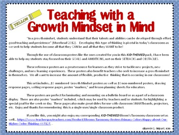 Happy Kids Growth Mindset Posters (Primary Colors)