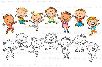 Happy Kids Jumping with Joy