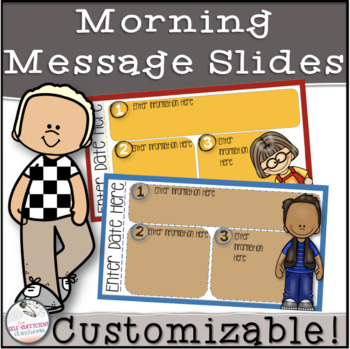 Happy Kids Morning Message Slides~ EDITABLE!