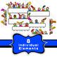 Happy Kids Page Borders & Banner Clip Art Set