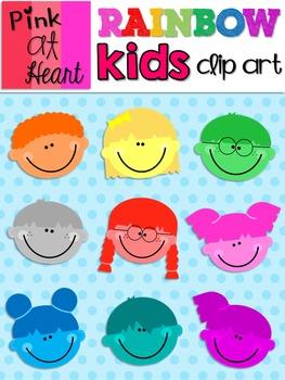 Rainbow Kids Clip Art