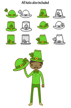 Happy Kids ST. Patrick's Day Clip art set