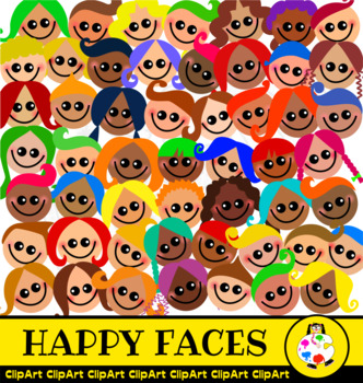 Happy Kids Smiling Face Clip Art