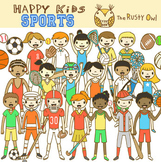Happy Kids Sports Clip Art