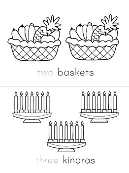 Happy Kwanzaa! Counting 1-10 mini booklets - two versions