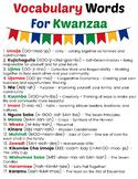 Happy Kwanzaa Printable Game Set - Vocab Words, Crossword,