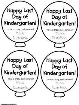 Happy Last Day School Balloons for Crazy Straws Editable