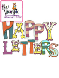 Happy Letters for Personal or Commercial Use-Not a Font