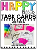 Happy Little Task Cards 2-Digit Addition Without Regrouping