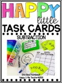 Happy Little Task Cards Subtraction Numbers 1-10