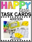 Happy Little Task Cards Addition Sums 1-10