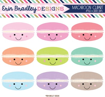 Happy Macaroons Clipart