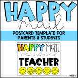 Happy Mail Postcard Template