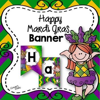 Happy Mardi Gras Banner